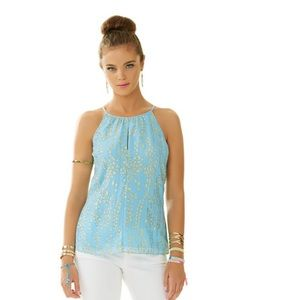 Lilly Pulitzer Del Mar silk halter top $139